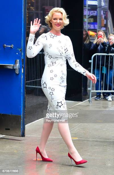 Actress Katherine Heigl is seen outside 'Good Morning America' on April 20 2017 in New York City