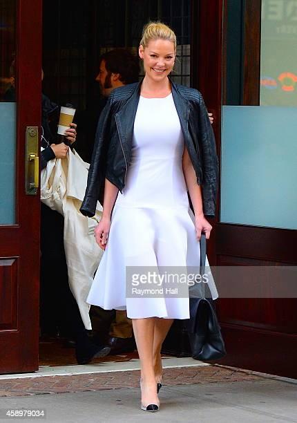 Actress Katherine Heigl is seen walking in Soho on November 14 2014 in New York City