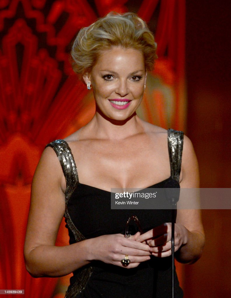 Actress Katherine Heigl speaks onstage at the 40th AFI Life Achievement Award honoring Shirley MacLaine held at Sony Pictures Studios on June 7, 2012 in Culver City, California. The AFI Life Achievement Award tribute to Shirley MacLaine will premiere on TV Land on Saturday, June 24 at 9PM