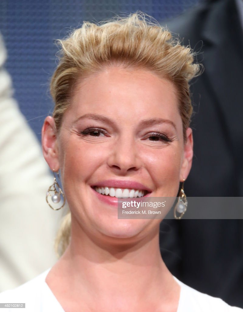Actress Katherine Heigl speaks onstage at the 'State of Affairs' panel during the NBCUniversal portion of the 2014 Summer Television Critics Association at The Beverly Hilton Hotel on July 13, 2014 in Beverly Hills, California.