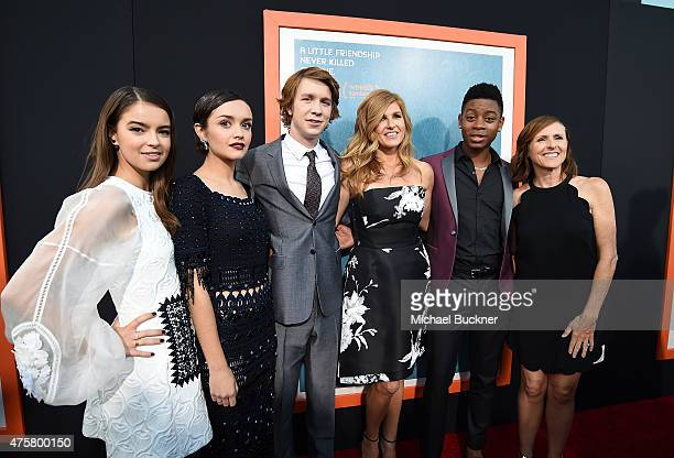 Actress Katherine Hughes actress Olivia Cooke actor Thomas Mann actress Connie Britton actor RJ Cyler and actress Molly Shannon arrive at the...
