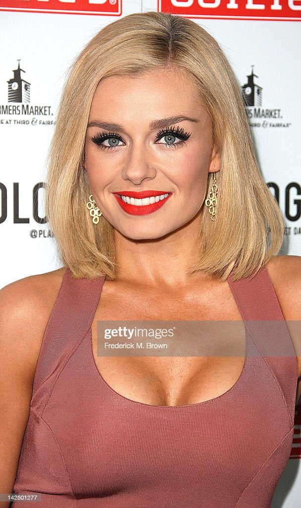 Actress <a gi-track='captionPersonalityLinkClicked' href=/galleries/search?phrase=Katherine+Jenkins&family=editorial&specificpeople=204776 ng-click='$event.stopPropagation()'>Katherine Jenkins</a> attends the Grand Opening of Robert Earl's Planet Dailies & Mixology 101 at The Farmer's Market on April 5, 2012 in Los Angeles, California