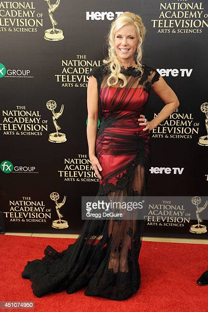 Actress Katherine Kelly Lang arrives at the 41st Annual Daytime Emmy Awards at The Beverly Hilton Hotel on June 22 2014 in Beverly Hills California
