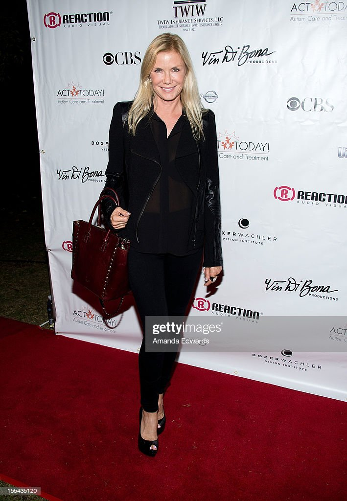 Actress Katherine Kelly Lang arrives at the ACT Today!'s 7th Annual Denim & Diamonds For Autism Benefit on November 3, 2012 in Malibu, California.