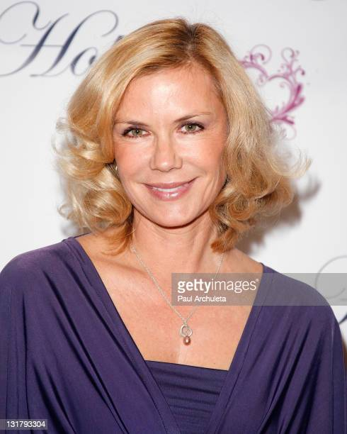 Actress Katherine Kelly Lang arrives at the 'Hearts For Hope' charity fashion show at The Four Seasons Hotel on February 5 2011 in Westlake Village...