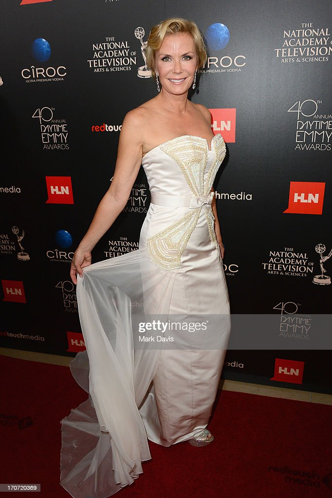 Actress Katherine Kelly Lang attends The 40th Annual Daytime Emmy Awards at The Beverly Hilton Hotel on June 16, 2013 in Beverly Hills, California.