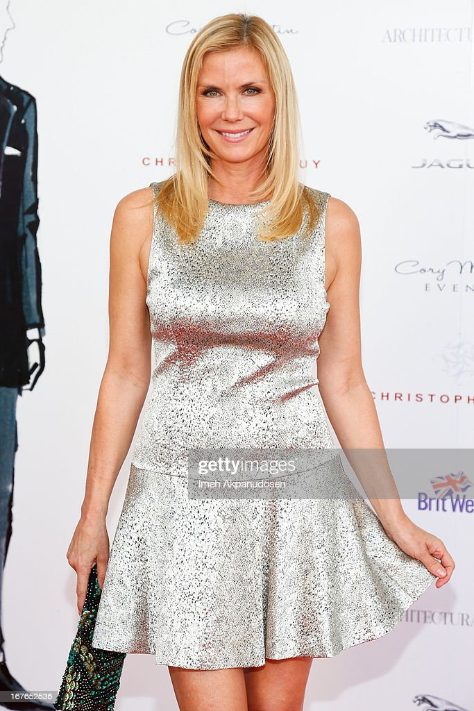 Actress <a gi-track='captionPersonalityLinkClicked' href=/galleries/search?phrase=Katherine+Kelly+Lang&family=editorial&specificpeople=663697 ng-click='$event.stopPropagation()'>Katherine Kelly Lang</a> attends the 7th Annual Britweek: BritWeek Design Icon Award Presentation at Christopher Guy West Hollywood Showroom on April 26, 2013 in West Hollywood, California.