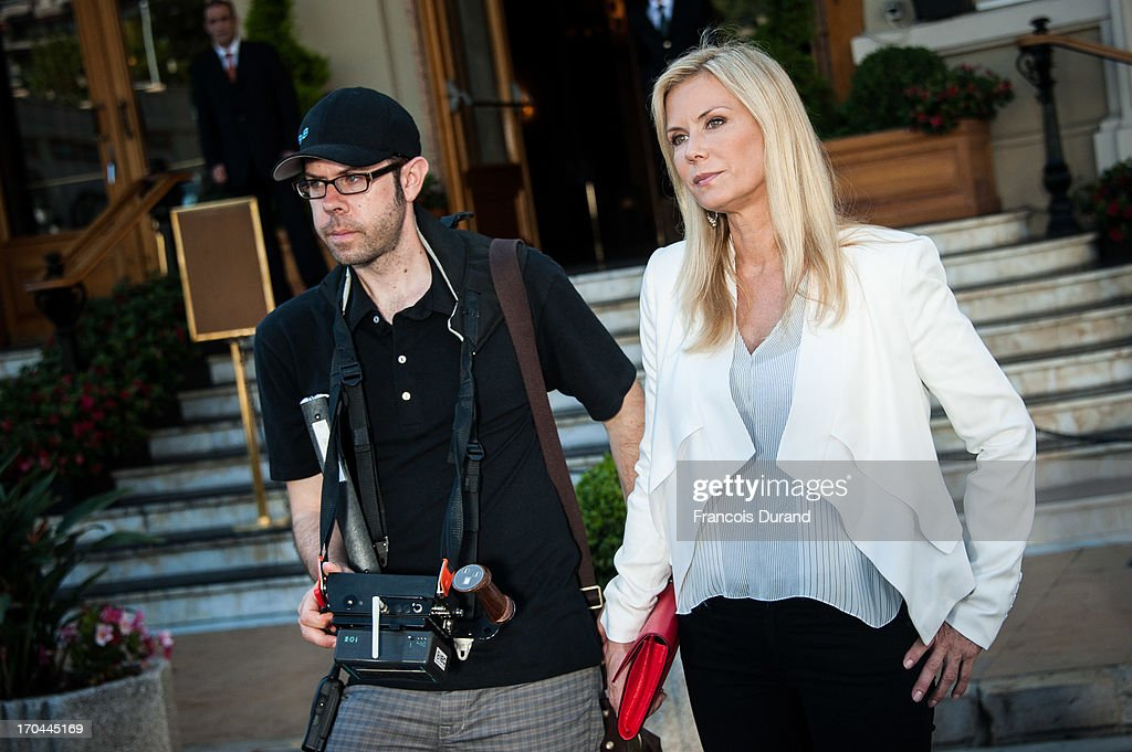 Actress Katherine Kelly Lang is seen filming a scene of 'Bold And the Beautiful' on June 13, 2013 in Monaco, Monaco.