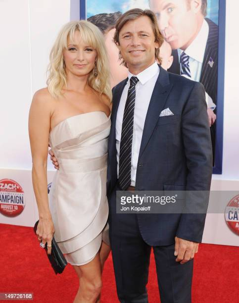 Actress Katherine LaNasa and actor Grant Show arrive at the Los Angeles Premiere 'The Campaign' at Grauman's Chinese Theatre on August 2 2012 in...