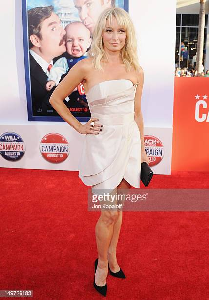 Actress Katherine LaNasa arrives at the Los Angeles Premiere 'The Campaign' at Grauman's Chinese Theatre on August 2 2012 in Hollywood California