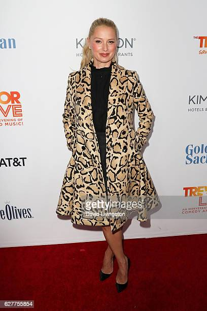 Actress Katherine LaNasa arrives at the TrevorLIVE Los Angeles 2016 Fundraiser at The Beverly Hilton Hotel on December 4 2016 in Beverly Hills...