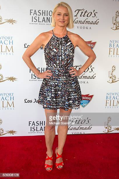 Actress Katherine LaNasa attends the 17th Annual Newport Beach Film Festival premiere of 'Love Is All You Need' at Regency South Coast Village...
