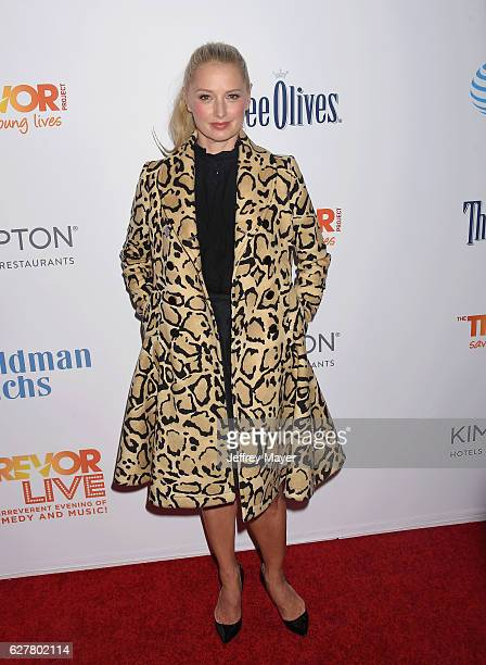 Actress Katherine LaNasa attends the TrevorLIVE Los Angeles 2016 Fundraiser at the Beverly Hilton Hotel on December 04 2016 in Beverly Hills...