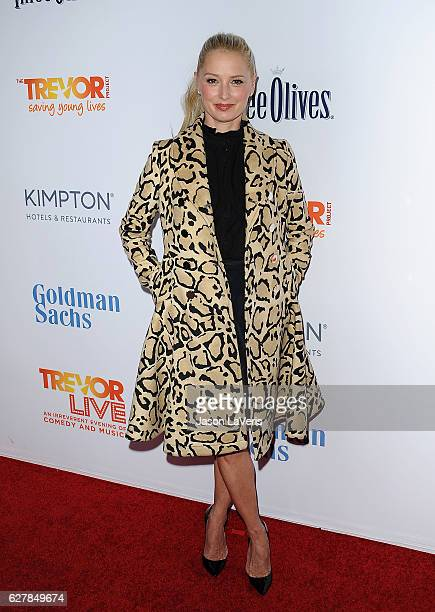 Actress Katherine LaNasa attends the TrevorLIVE Los Angeles 2016 fundraiser at The Beverly Hilton Hotel on December 4 2016 in Beverly Hills California