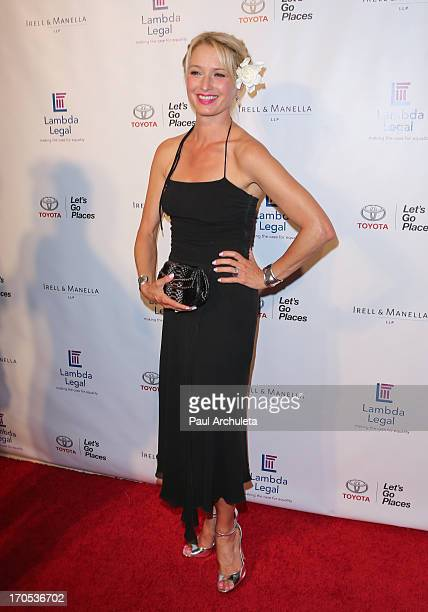 Actress Katherine LaNasa attends the West Coast Liberty Awards celebrating Lambda Legal's 40th anniversary at The London Hotel on June 13 2013 in...