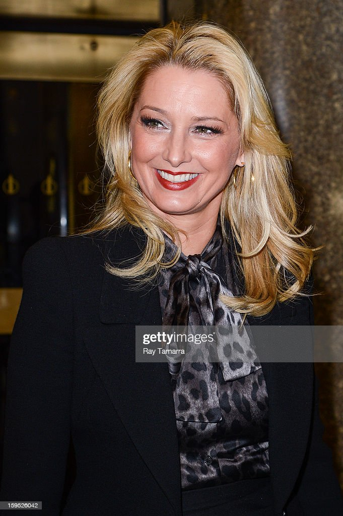 Actress Katherine LaNasa leaves the 'New York Live' taping at the NBC Rockefeller Center Studios on January 14, 2013 in New York City.