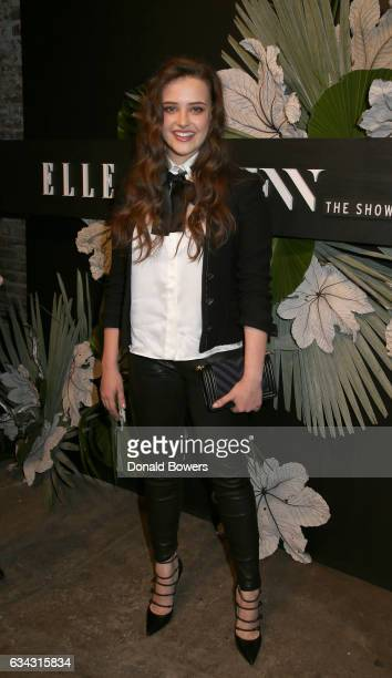 Actress Katherine Langford attends E ELLE IMG celebration to kickoff NYFW The Shows on February 8 2017 in New York City