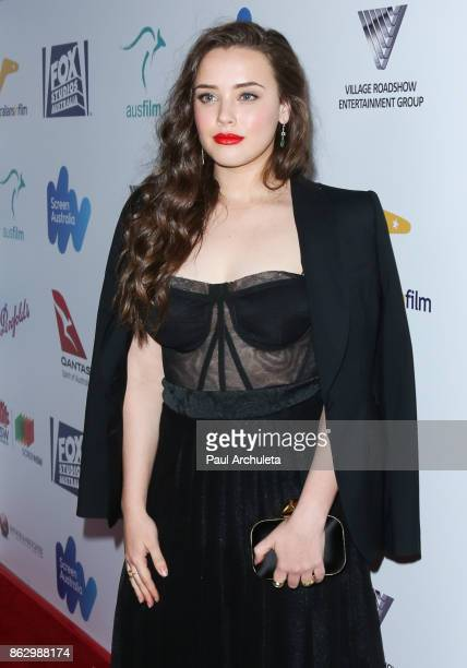 Actress Katherine Langford attends the 6th Annual Australians in Film Award Benefit Dinner at NeueHouse Hollywood on October 18 2017 in Los Angeles...