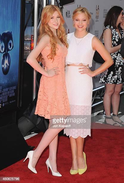 Actress Katherine McNamara and actress Olivia Holt arrive at the 2014 Los Angeles Film Festival Screening Of ''Earth To Echo' at Regal Cinemas LA...