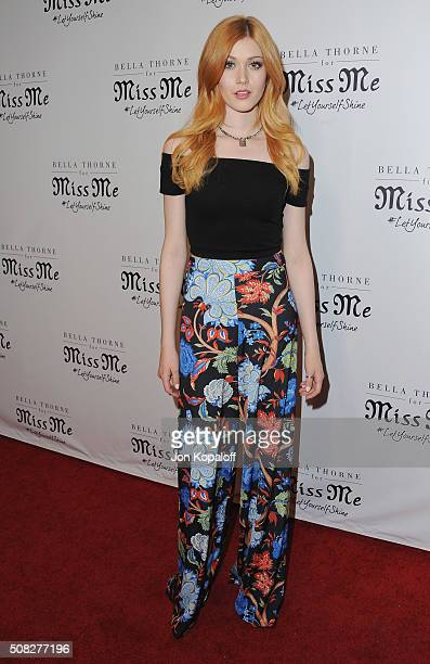 Actress Katherine McNamara arrives at Bella Thorne Hosts Miss Me And Cosmopolitan's Spring Campaign Launch Event at The Terrace at Sunset Tower on...