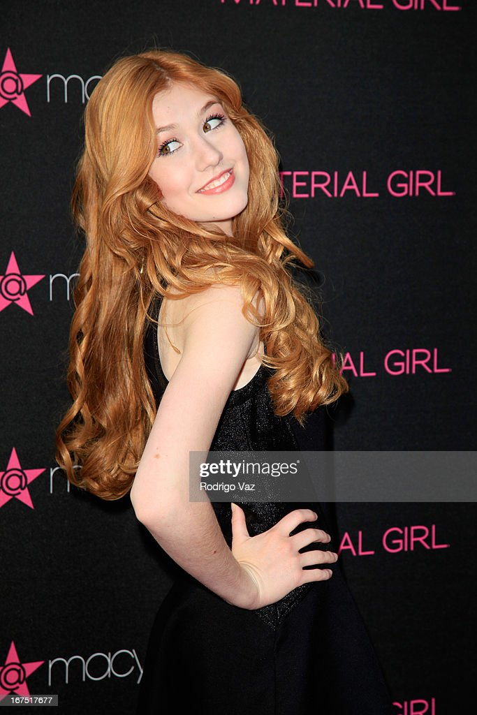 Actress Katherine McNamara arrives at Madonna's Fashion Evolution Pop-Up Exhibition at Macy's Westfield Century City on April 25, 2013 in Century City, California.