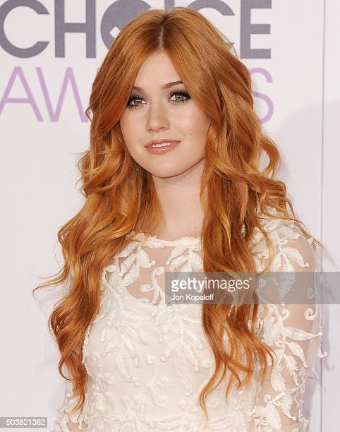 Actress Katherine McNamara arrives at People's Choice Awards 2016 at Microsoft Theater on January 6 2016 in Los Angeles California