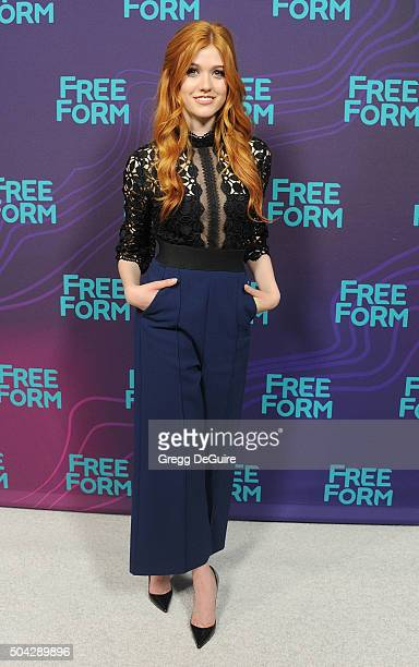 Actress Katherine McNamara arrives at the 2016 Winter TCA Tour Disney/ABC at Langham Hotel on January 9 2016 in Pasadena California