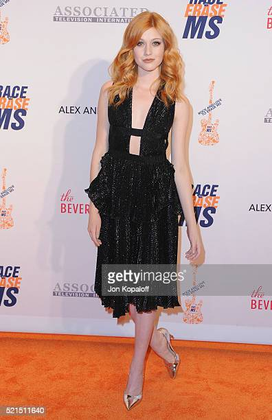 Actress Katherine McNamara arrives at the 23rd Annual Race To Erase MS Gala at The Beverly Hilton Hotel on April 15 2016 in Beverly Hills California