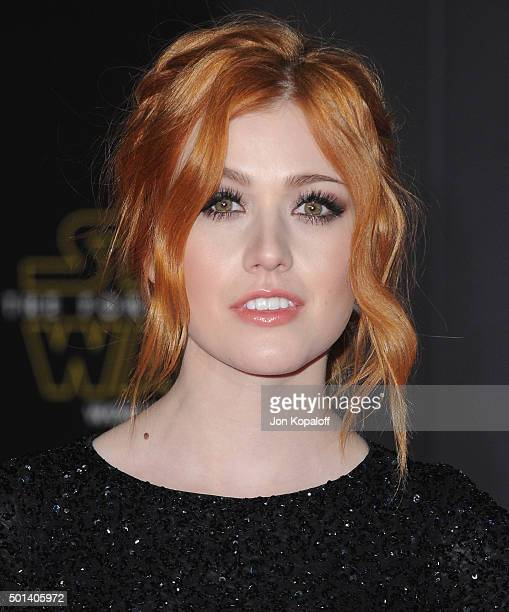 Actress Katherine McNamara arrives at the Los Angeles Premiere 'Star Wars The Force Awakens' on December 14 2015 in Hollywood California