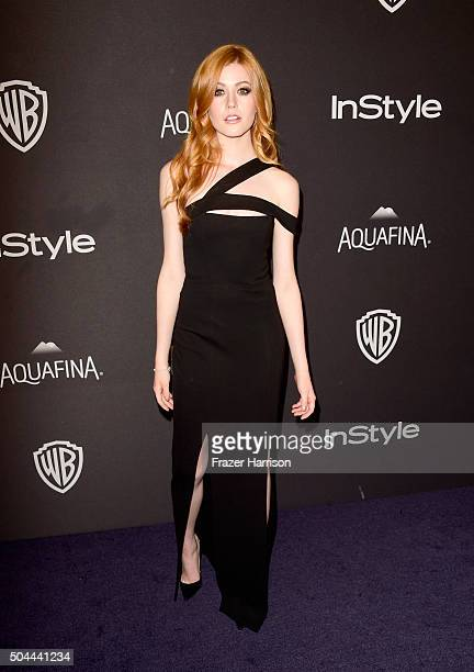 Actress Katherine McNamara attends InStyle and Warner Bros 73rd Annual Golden Globe Awards PostParty at The Beverly Hilton Hotel on January 10 2016...