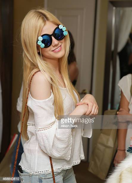 Actress Katherine McNamara attends Kari Feinstein's Music Festival Style Lounge at Sunset Marquis Hotel Villas on April 7 2015 in West Hollywood...