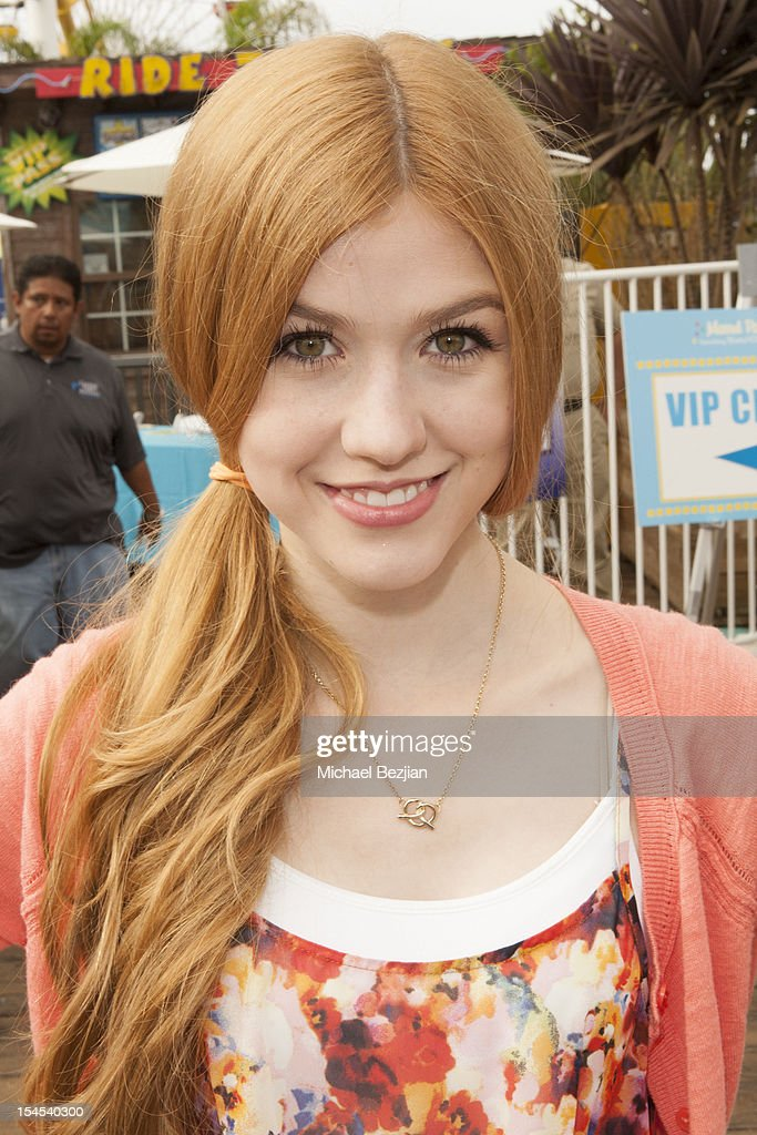 Actress Katherine McNamara attends Mattel Party On The Pier Benefiting Mattel Children's Hospital UCLA - Inside at Pacific Park at Santa Monica Pier on October 21, 2012 in Santa Monica, California.