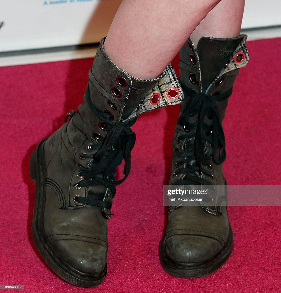 Actress Katherine McNamara (shoe detail) attends the 4th Annual Tutus4Tots Event at Together We Rise on February 2, 2013 in Chino, California.