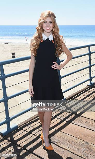Actress Katherine McNamara attends the event for MTV's 'Happyland' at Pacific Park on the Santa Monica Pier on September 24 2014 in Santa Monica...