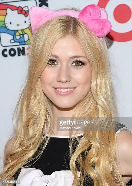 Actress Katherine McNamara attends the Hello Kitty Con 2014 Opening Night Party on October 29 2014 in Los Angeles California