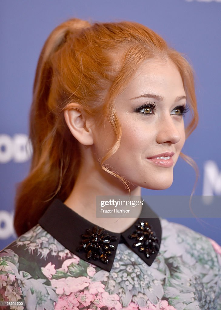Actress Katherine McNamara attends the Hollywood Foreign Press Association's Grants Banquet at The Beverly Hilton Hotel on August 14, 2014 in Beverly Hills, California.