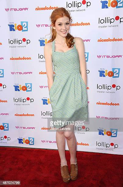 Actress Katherine McNamara attends the Lollipop Theater Network's A Night Under The Stars at Nickelodeon Animation Studio on April 26 2014 in Burbank...