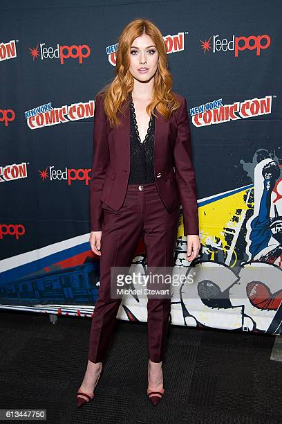 Actress Katherine McNamara attends the Shadowhunters Season 2 QA press room during 2016 New York Comic Con at the Jacob Javitz Center on October 8...
