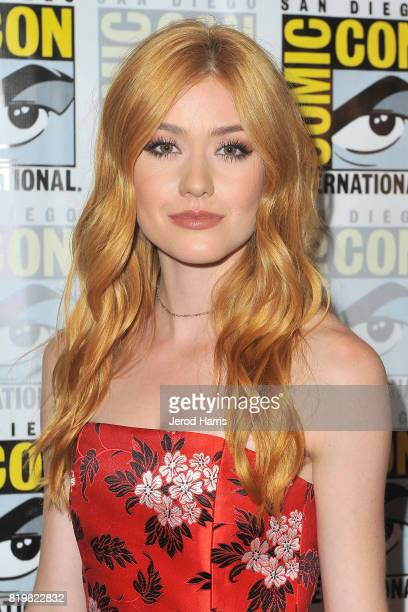 Actress Katherine Mcnamara attends the Shadwohunters press line at ComicCon International 2017 Day 1 on July 20 2017 in San Diego California