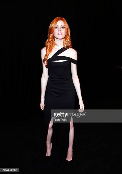 Actress Katherine McNamara attends The Weinstein Company and Netflix Golden Globe Party presented with DeLeon Tequila Laura Mercier Lindt Chocolate...