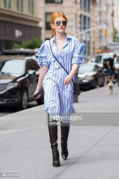 Actress Katherine McNamara is seen in NoHo on August 14 2017 in New York City