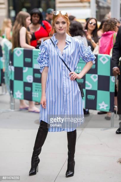 Actress Katherine McNamara is seen in NoHo on August 14 2017 in New York City