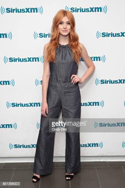 Actress Katherine McNamara visits the SiriusXM Studios on August 14 2017 in New York City