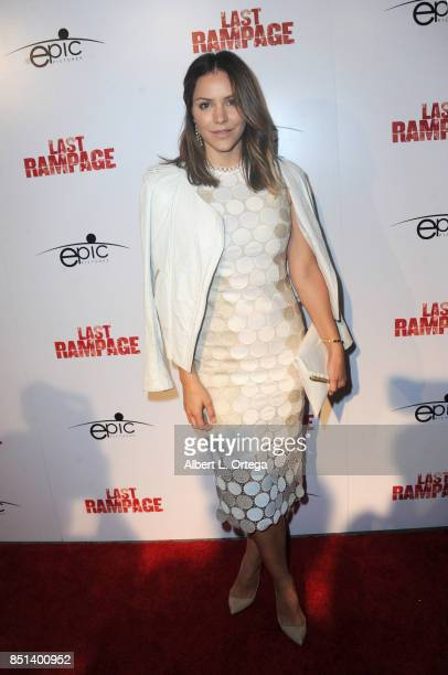 Actress Katherine McPhee arrives for the Premiere Of Epic Pictures Releasings' 'Last Rampage' held at ArcLight Cinemas on September 21 2017 in...