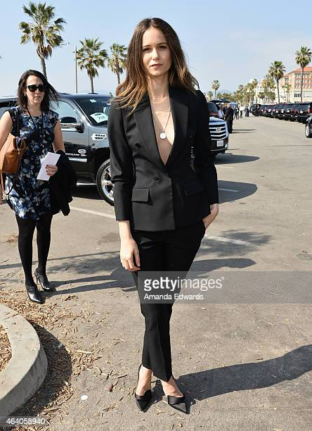 Actress Katherine Waterston attends the 2015 Film Independent Spirit Awards at Santa Monica Beach on February 21 2015 in Santa Monica California