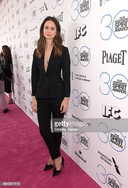 Actress Katherine Waterston attends the 30th Annual Film Independent Spirit Awards at Santa Monica Beach on February 21 2015 in Santa Monica...