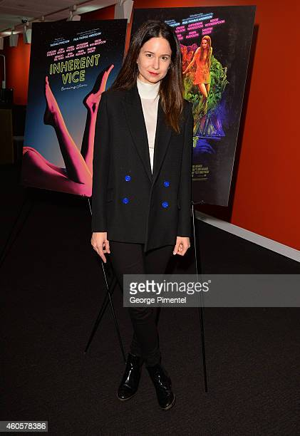 Actress Katherine Waterston attends the QA for her recent film 'Inherent Vice' held at TIFF Bell Lightbox on December 16 2014 in Toronto Canada