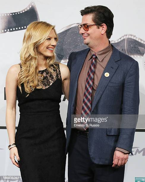 Actress Katheryn Winnick and director Roman Coppola attend the 'A Glimpse Inside The Mind Of Charles Swan III' Photocall during the 7th Rome Film...