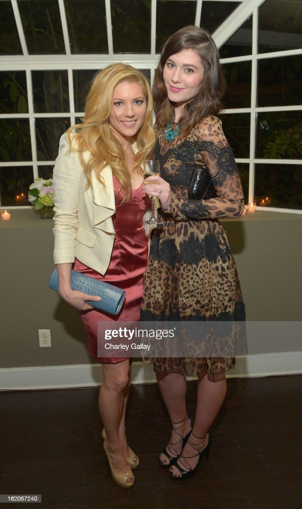 "Actress Katheryn Winnick and Mary Elizabeth Winstead attend Vanity Fair and Juicy Couture's Celebration of the 2013 ""Vanities"" Calendar hosted by Vanity Fair West Coast Editor Krista Smith and actress Olivia Munn in support of the Regional Food Bank of Oklahoma, a member of Feeding America, at the Chateau Marmont on February 18, 2013 in Los Angeles, California."