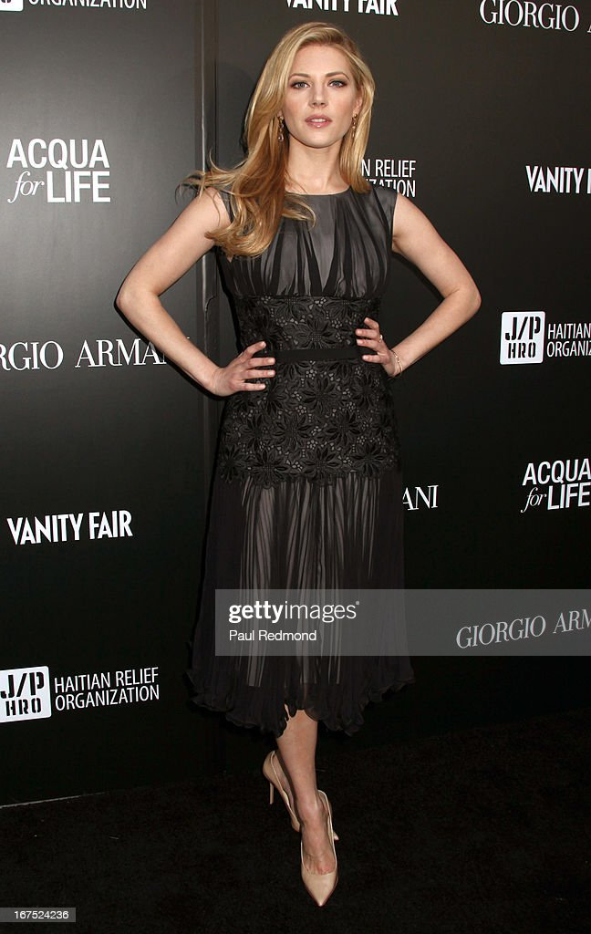 Actress Katheryn Winnick arrives at the Giorgio Armani party during Paris Photo LA - Opening Night at Paramount Studios on April 25, 2013 in Hollywood, California.
